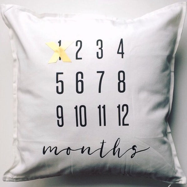 MILESTONE PILLOW - MONTHS