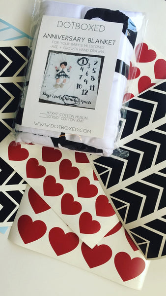 PHOTO PROP ACCESSORIES FOR ANNIVERSARY BLANKETS - VINYL DECALS SET - Dotboxed