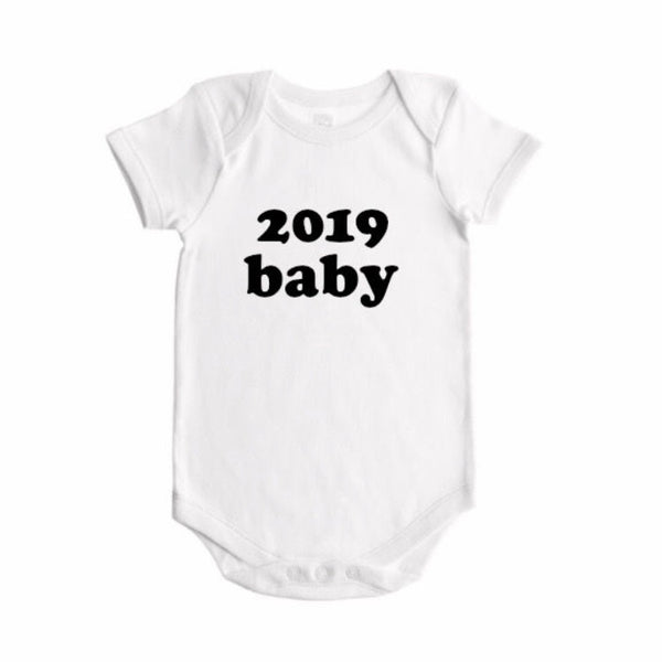 2019 baby (bold font) announcement - BODYSUIT - Dotboxed