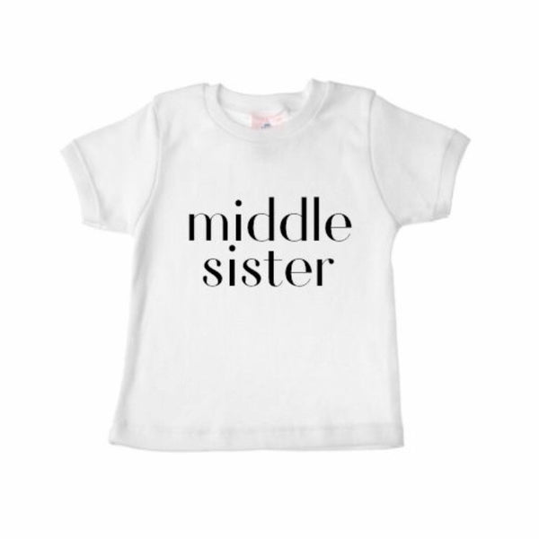Sibling Shirts MIDDLE SISTER - Dotboxed