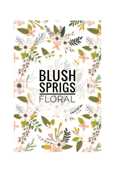 Blush Sprigs Floral collection - CUSTOM BLANKET - Dotboxed