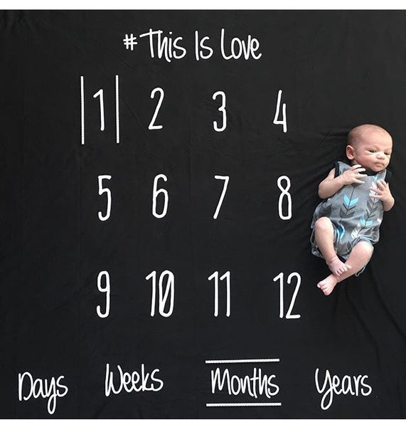 ANNIVERSARY BLANKET - THIS IS LOVE - BLACK COLOR - Dotboxed