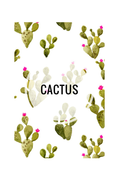 Cactus Prints 2 - CUSTOM CRIB SHEET / CHANGE PAD COVER - Dotboxed