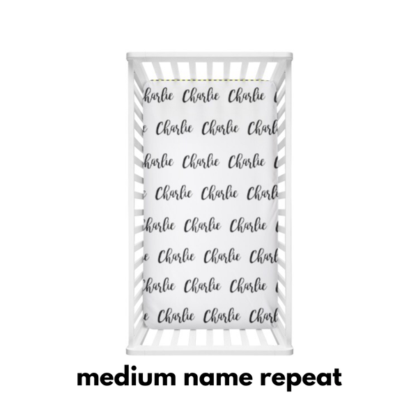 Medium Name Repeat - Personalized Name Bedding - Dotboxed