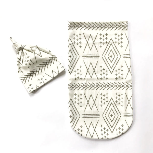 Newborn Sac Set - AZTEC OFF WHITE - Dotboxed