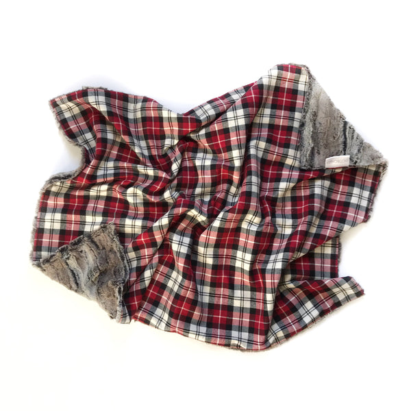 Plaid Blanket RED WHITE AND DEEP RED, WHITE and BLACK - Dotboxed