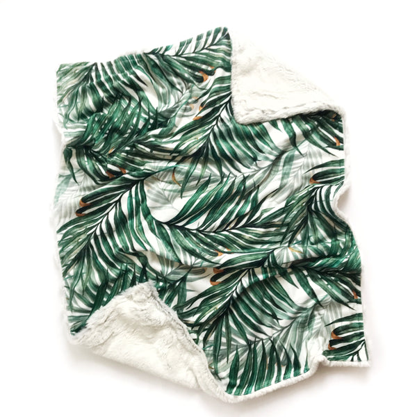 Minky Blanket - Palm Leaves - Dotboxed