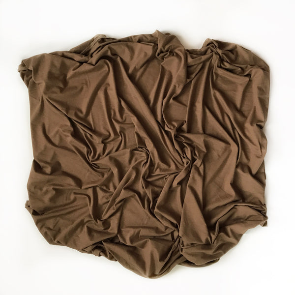 Stretchy Swaddle Blanket in Americano Brown - Dotboxed