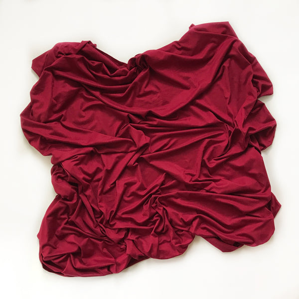 Stretchy Swaddle Blanket in Burgundy - Dotboxed