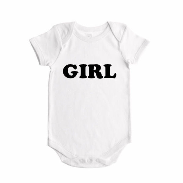 Girl Gender Reveal (bold font)- BODYSUIT - Dotboxed