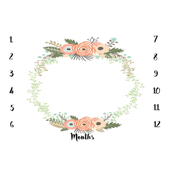 ANNIVERSARY BLANKET - FLORAL WREATH 1 - Dotboxed