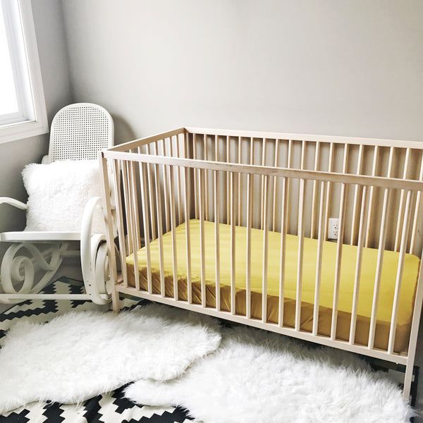 Crib Sheet in Gold Palm - Wholesale - Dotboxed