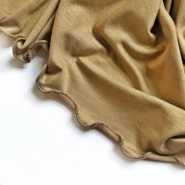 Stretchy Swaddle Blanket in Light Camel - Dotboxed