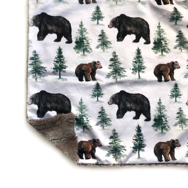 Lovey Blanket - Bears and Trees