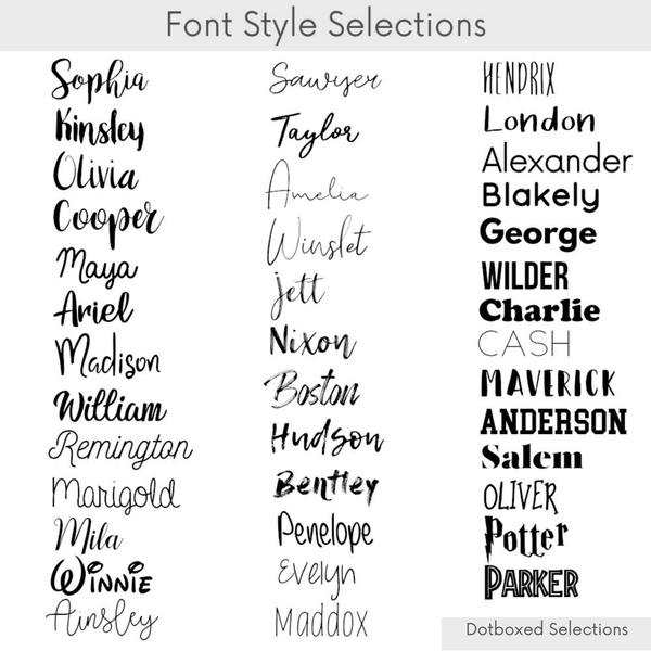 Personalized Name Crib Sheet-  LARGE CHARCOAL STRIPES - Dotboxed