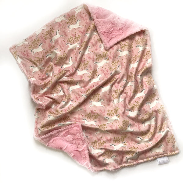 Minky Blanket - Magical Unicorn Forest - Dotboxed