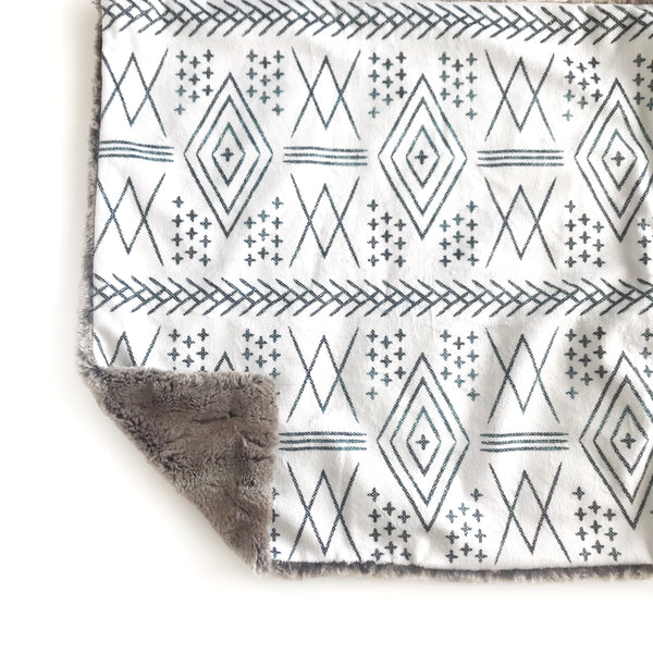 Lovey Blanket - Aztec Off White