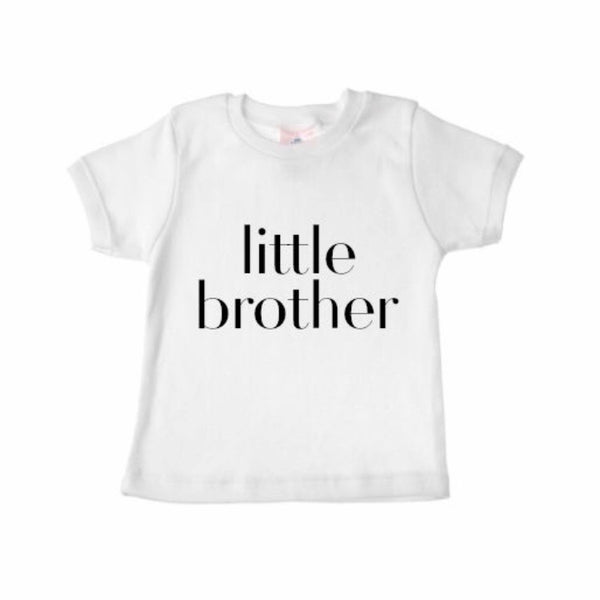 Sibling Shirts LITTLE BROTHER - Dotboxed