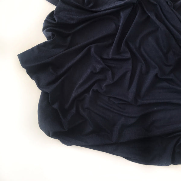 Stretchy Swaddle Blanket in Navy - Dotboxed