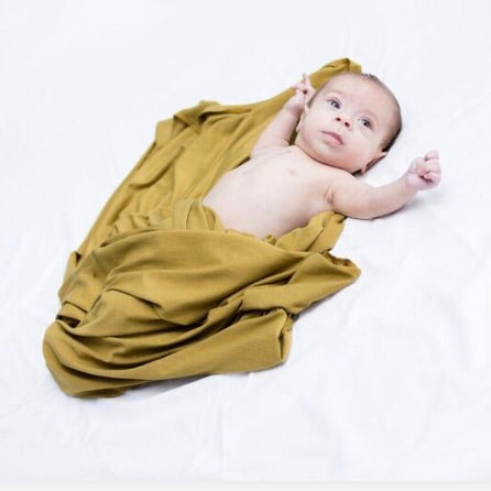 Stretchy Swaddle Blanket in Chartreuse - Dotboxed