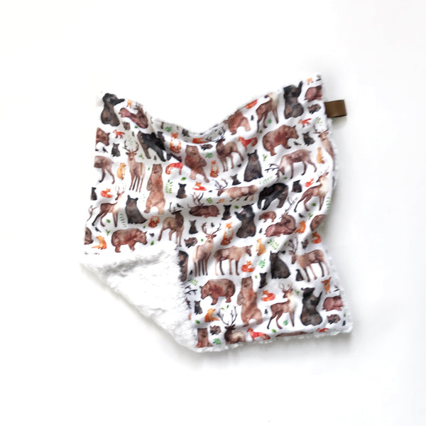 Lovey Blanket - Woodland Animals - Dotboxed