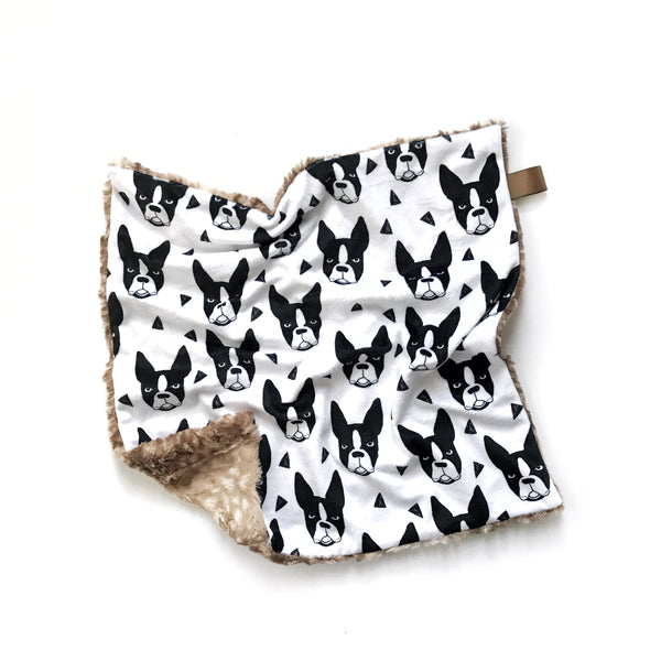 Lovey Blanket - Boston Terrier - Dotboxed