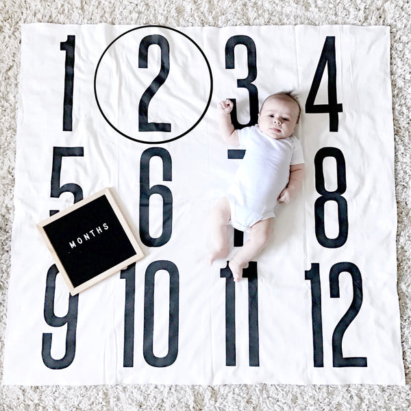 ANNIVERSARY BLANKET - BIG + BOLD NUMBERS