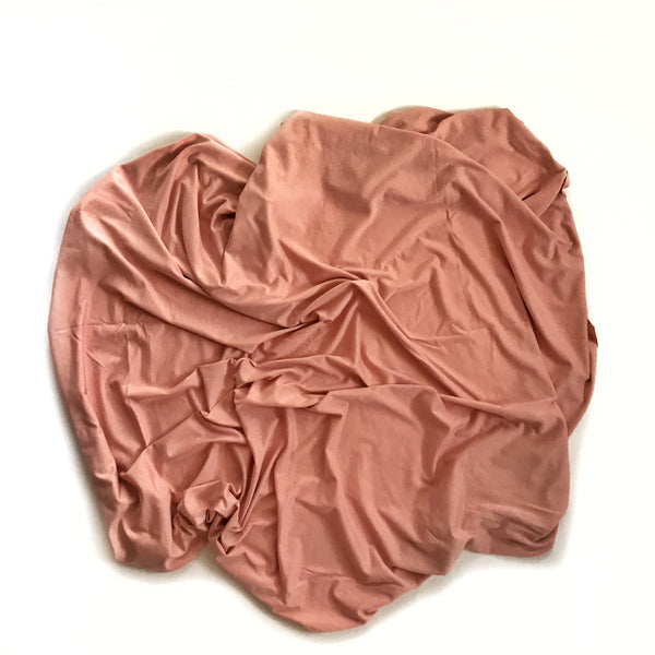 Stretchy Swaddle Blanket in Mellow Rose Pink - Dotboxed