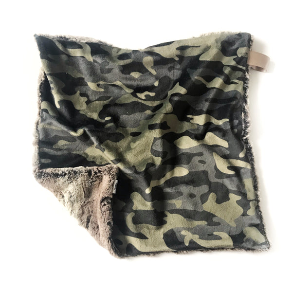 Lovey Blanket - Camouflage Green - Dotboxed