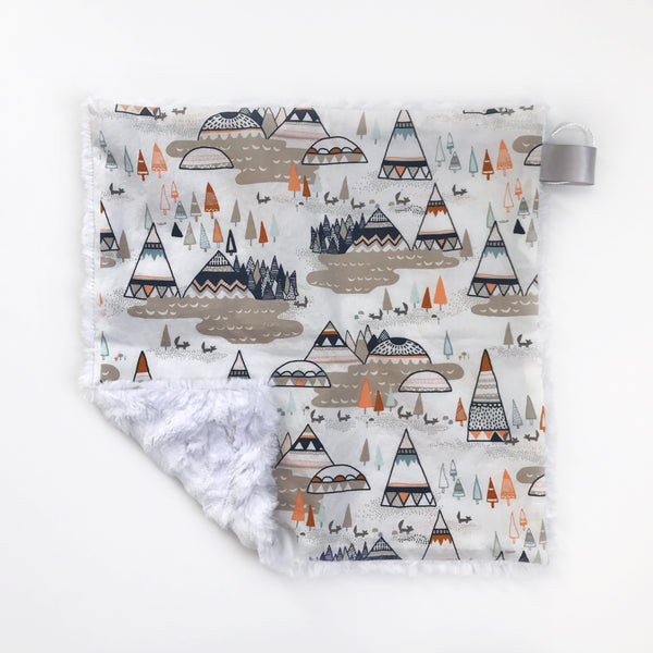 LOVEY BLANKET - TEEPEE ORANGE - Dotboxed