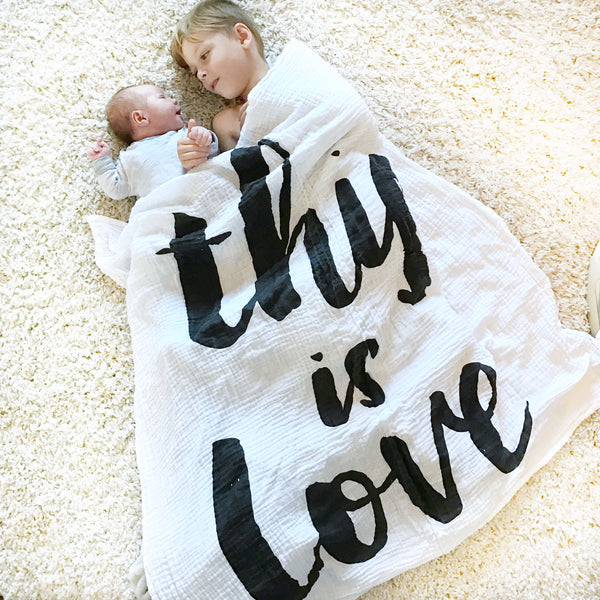 MUSLIN SWADDLE BLANKET - THIS IS LOVE