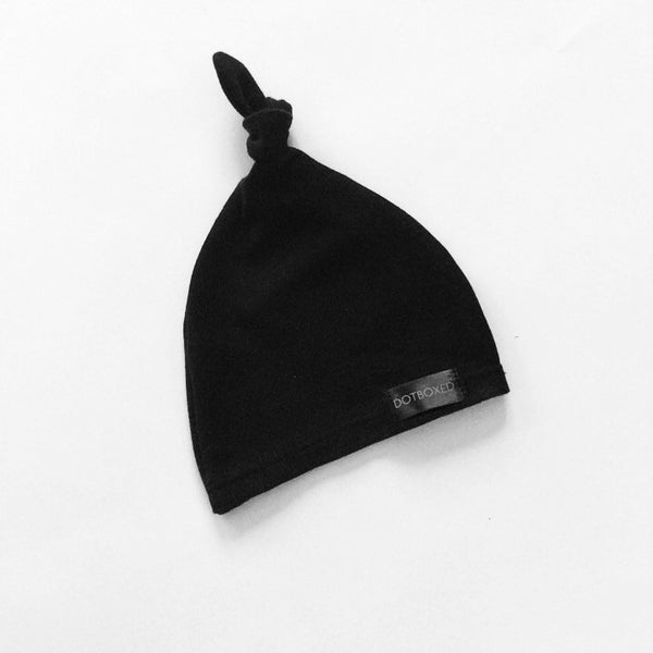 Black - TIED KNOT BEANIE - Dotboxed