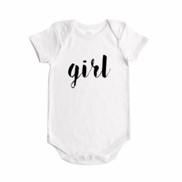 Girl Gender Reveal (handwritten font)- BODYSUIT - Dotboxed