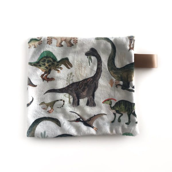 Mini Lovey / Crinkle Lovey - Dinosaurs on Green
