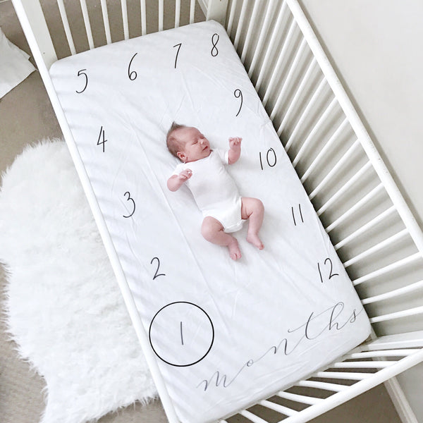 Milestone Crib Sheet - months (script) - CRIB SHEET