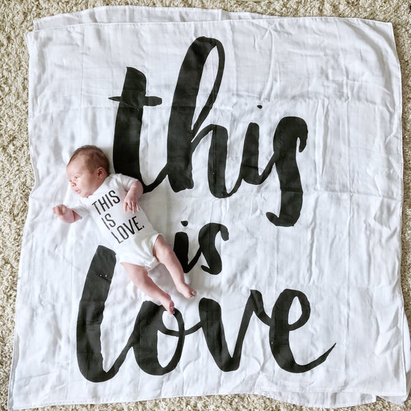 SWADDLE BLANKET - THIS IS LOVE - Dotboxed