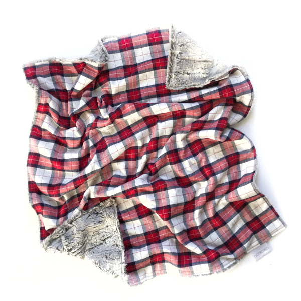 Plaid Blanket RED AND WHITE CHECK - Dotboxed