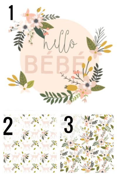 Blush Sprigs Floral Collection - CUSTOM CRIB SHEET / CHANGE PAD COVER - Dotboxed