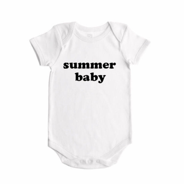 spring / summer / fall / winter  baby seasons announcement BODYSUIT - Dotboxed