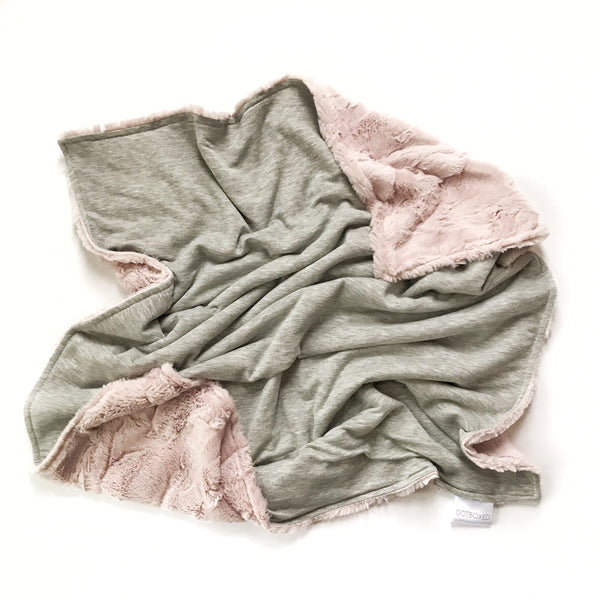 Blanket - Grey and Rosewater - Dotboxed