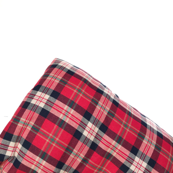 Plaid Blanket RED WHITE GREEN CHECK - Dotboxed