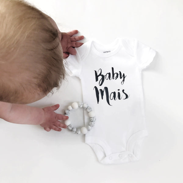 Personalized Name Bodysuit - WHITE - Dotboxed