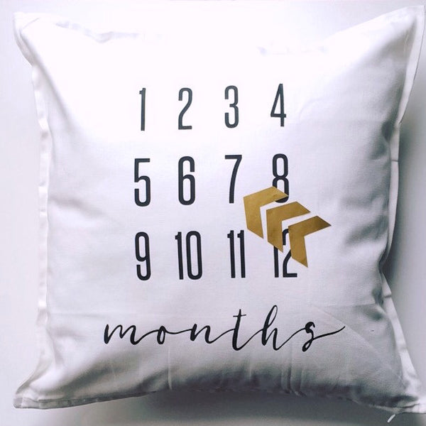 MILESTONE PILLOW ONE OF A KIND - MONTHS - Dotboxed