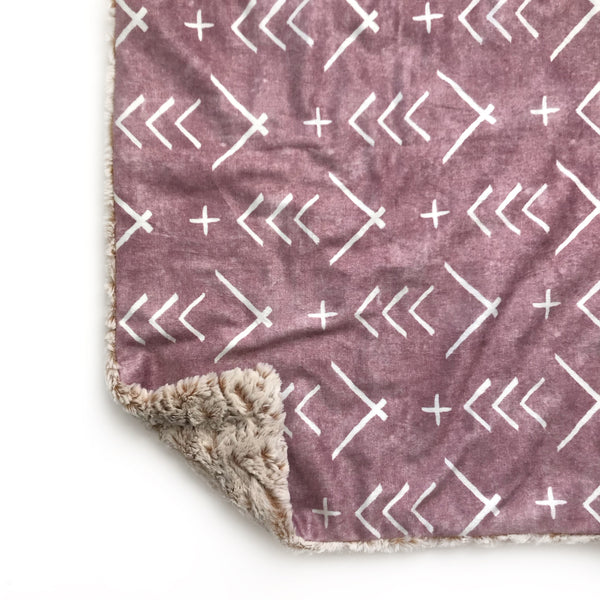 Lovey Blanket - Mauve Mudcloth Arrows
