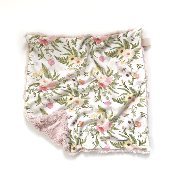 Lovey Blanket - Blushing Vintage Floral - Dotboxed