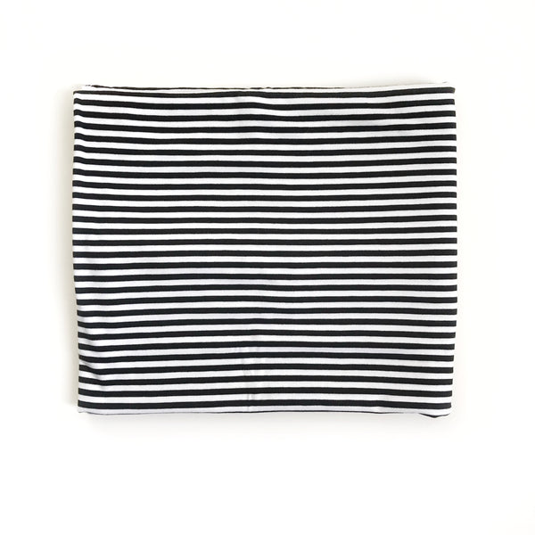 Stretchy Swaddle Blanket in Black and White Stripes - Dotboxed