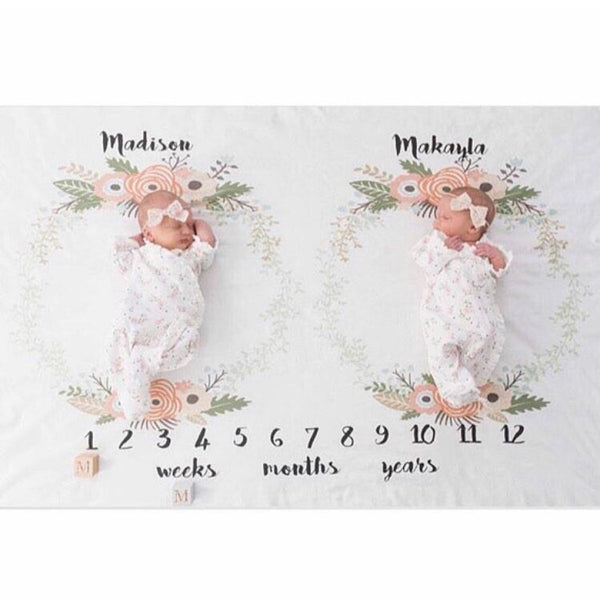 ANNIVERSARY BLANKET - FLORAL WREATH 1 TWINS - Dotboxed