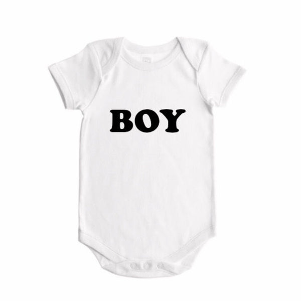 Boy Gender Reveal  (bold font)- BODYSUIT - Dotboxed