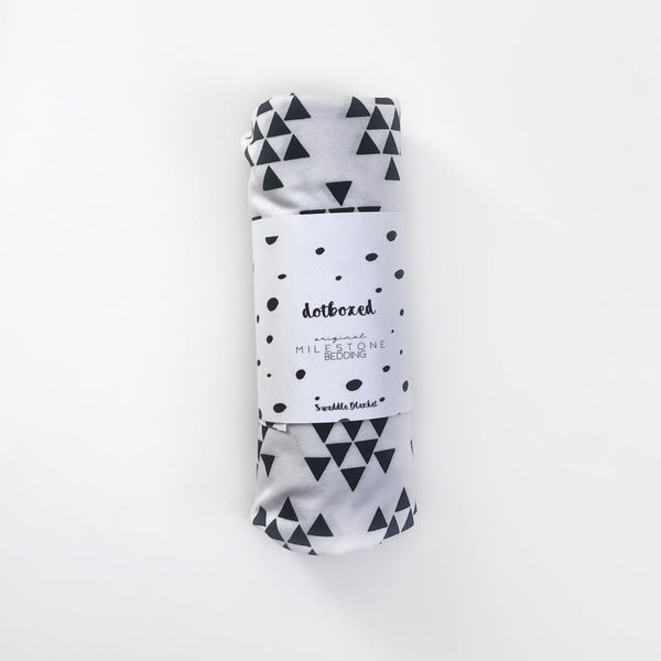 BLACK AND WHITE TRIANGLES swaddle - BLANKET - Dotboxed