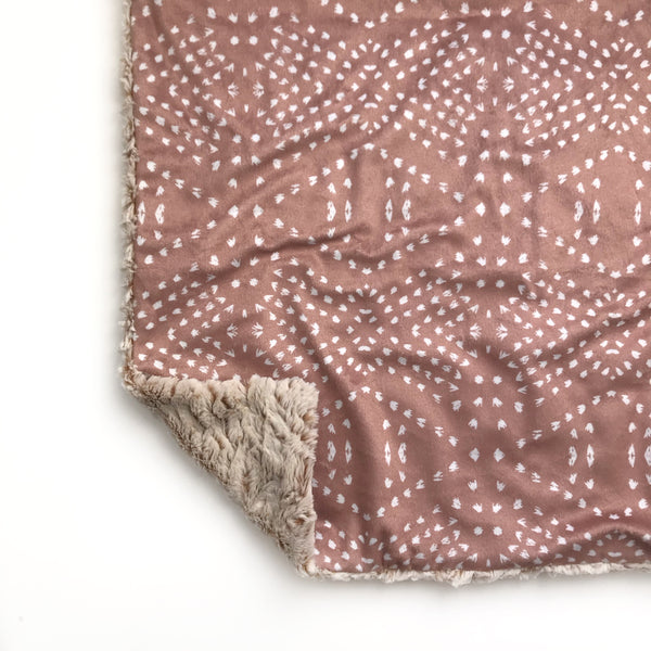 Lovey Blanket - Dark Blush Boho Tile